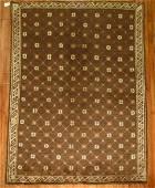 Vintage Browns Turkish Oushak Ushak Kars Rug 6.9x9.2