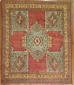 Antique Turkish Oushak Ushak Square Rug 6.10x7.7