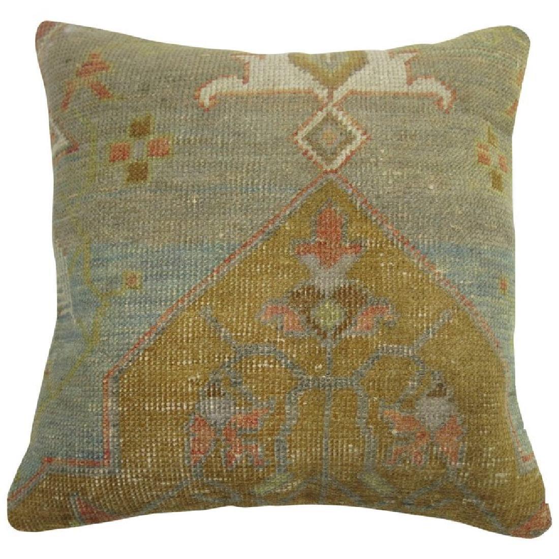 Turkish Oushak Rug Pillow 1.6x1.5x1