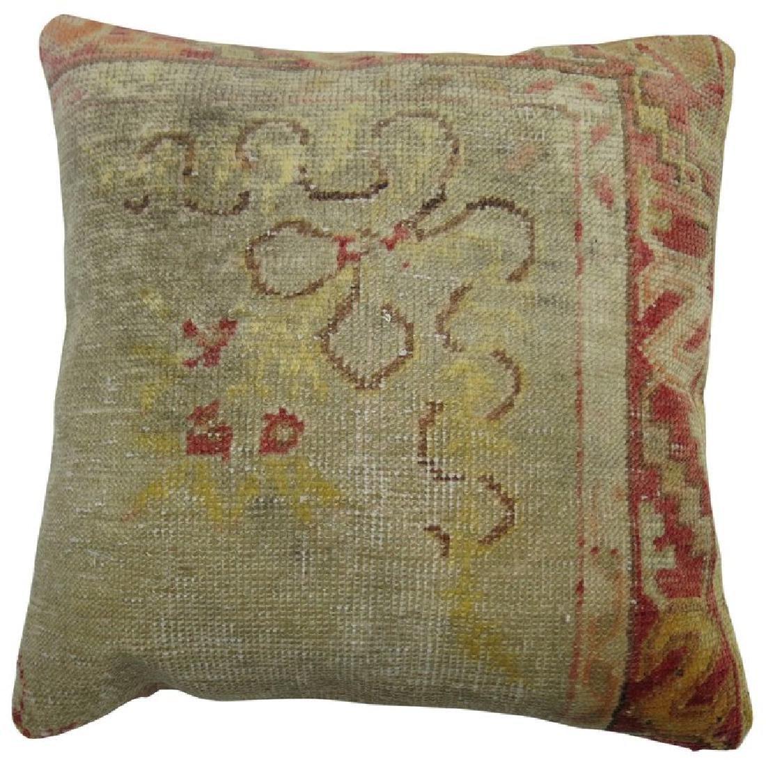 Vintage Oushak Rug Pillow 9x1.8x1.8