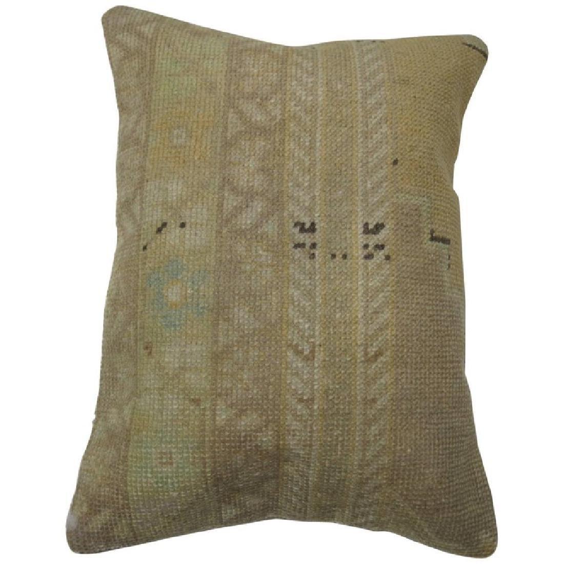 Vintage Oushak Rug Pillow 1.3x1.9x1.9