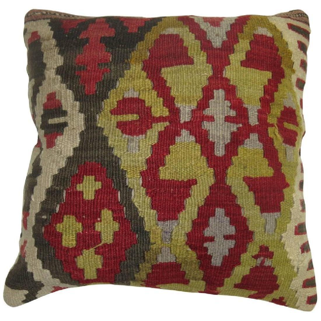 Turkish Kilim Rug Pillow 1.4x1.4x1.4