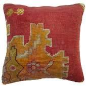 Red Oushak Rug Pillow 1.7x1.7x1.7