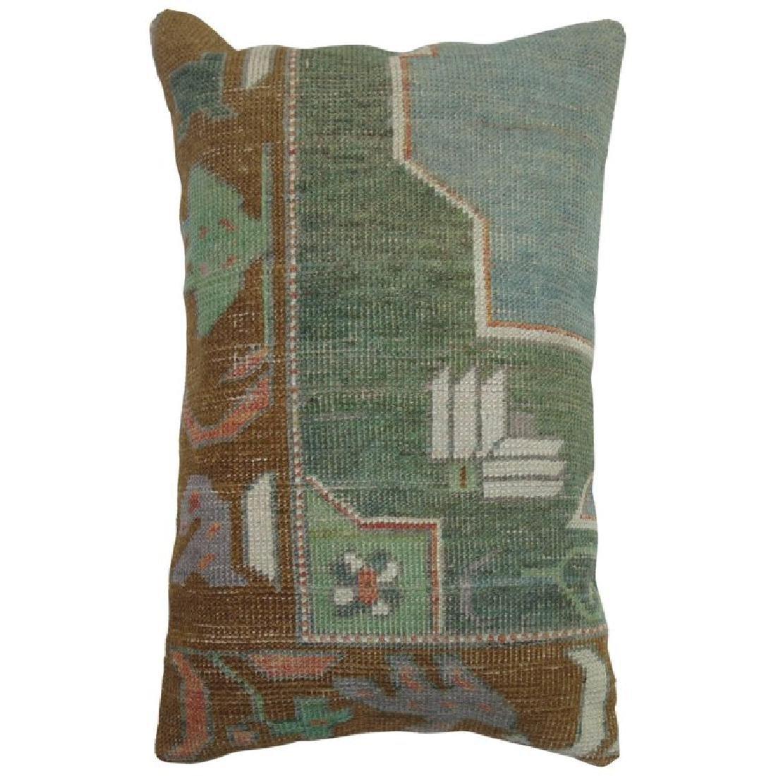 Turkish Oushak Lumbar Rug Pillow 1.5x1.7x1.7