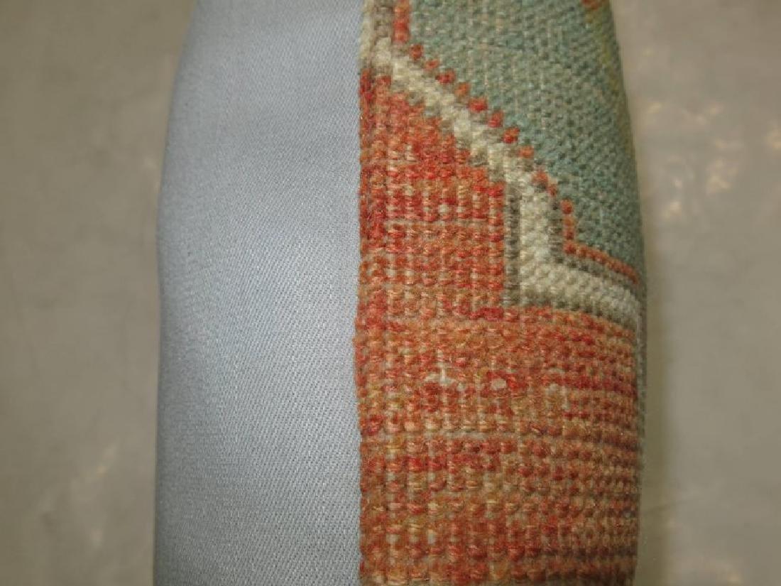 Turkish Oushak Lumbar Rug Pillow 1.5x1.7x1.7 - 2