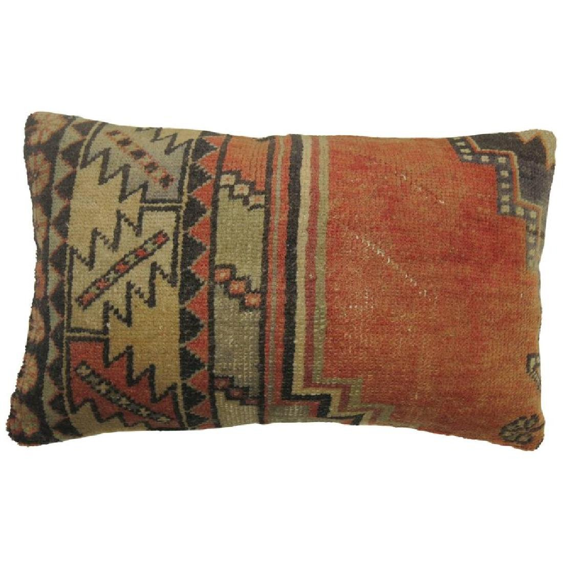 Small Bolster Turkish Rug Pillow 14x1.10x1.10