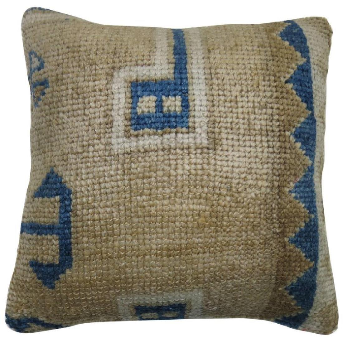 Vintage Oushak Rug Pillow 1.4x1.4x1.4