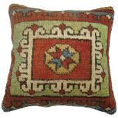 Turkish Bergama Rug Pillow 14x14x14
