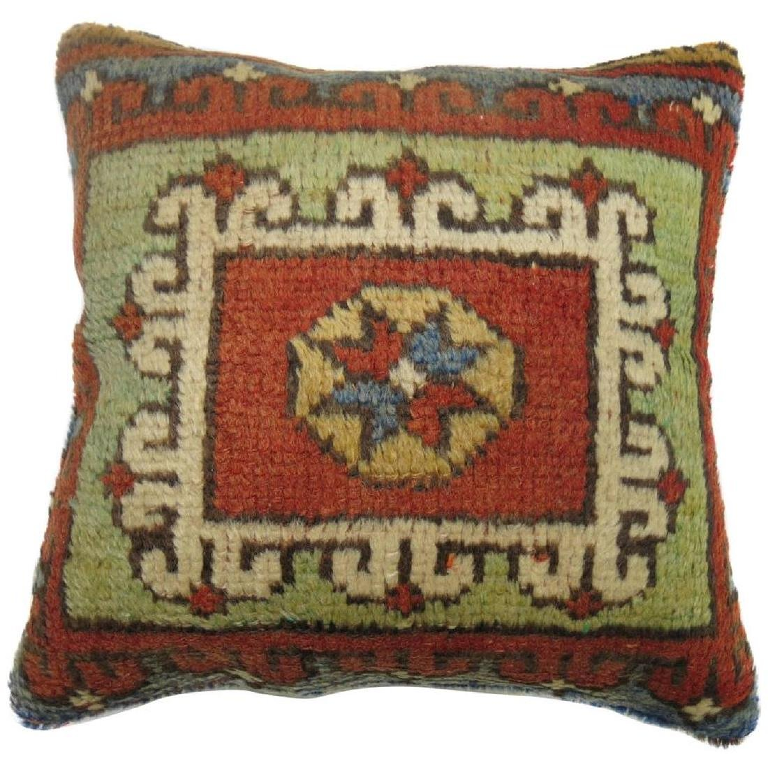 Turkish Bergama Rug Pillow 1.4x1.4x1.4