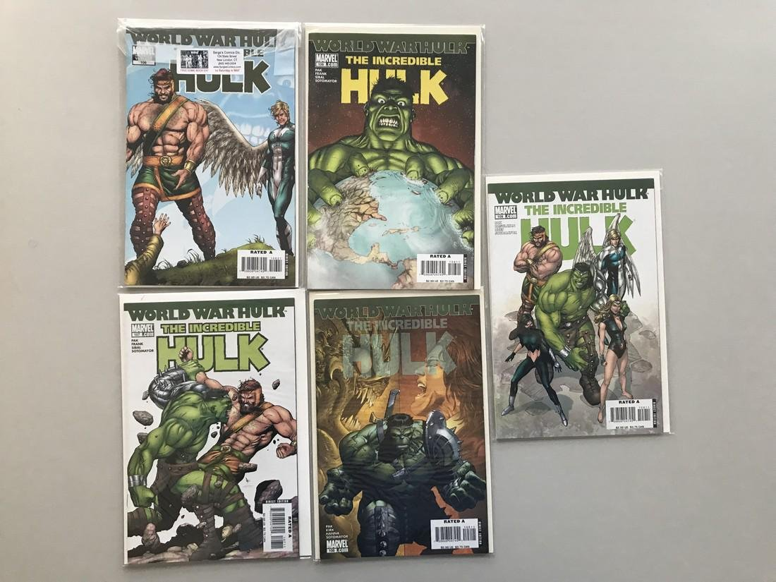 Lot of 9 Incredible Hulk (1999 2nd Series) #106-112