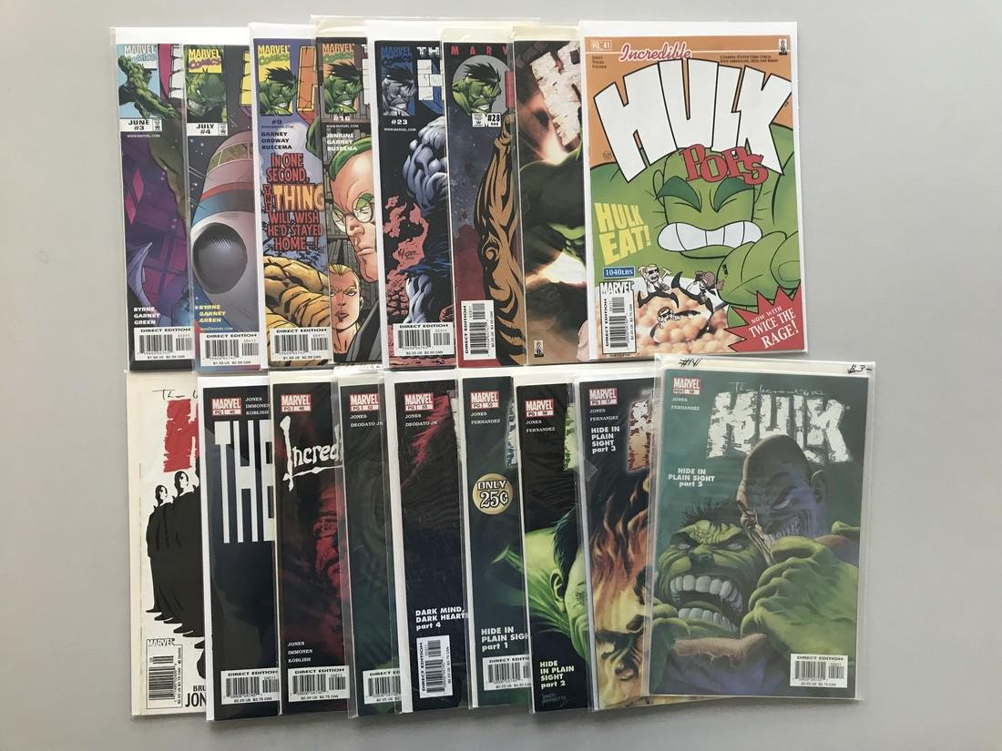 Lot of 17 Incredible Hulk (1999 2nd Series) from #3-59 - 2