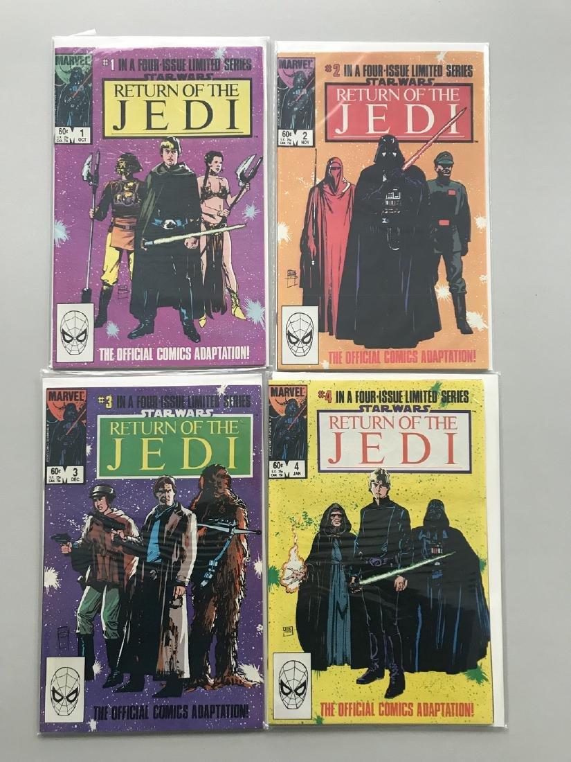 Complete set of 4 Star Wars Return of the Jedi