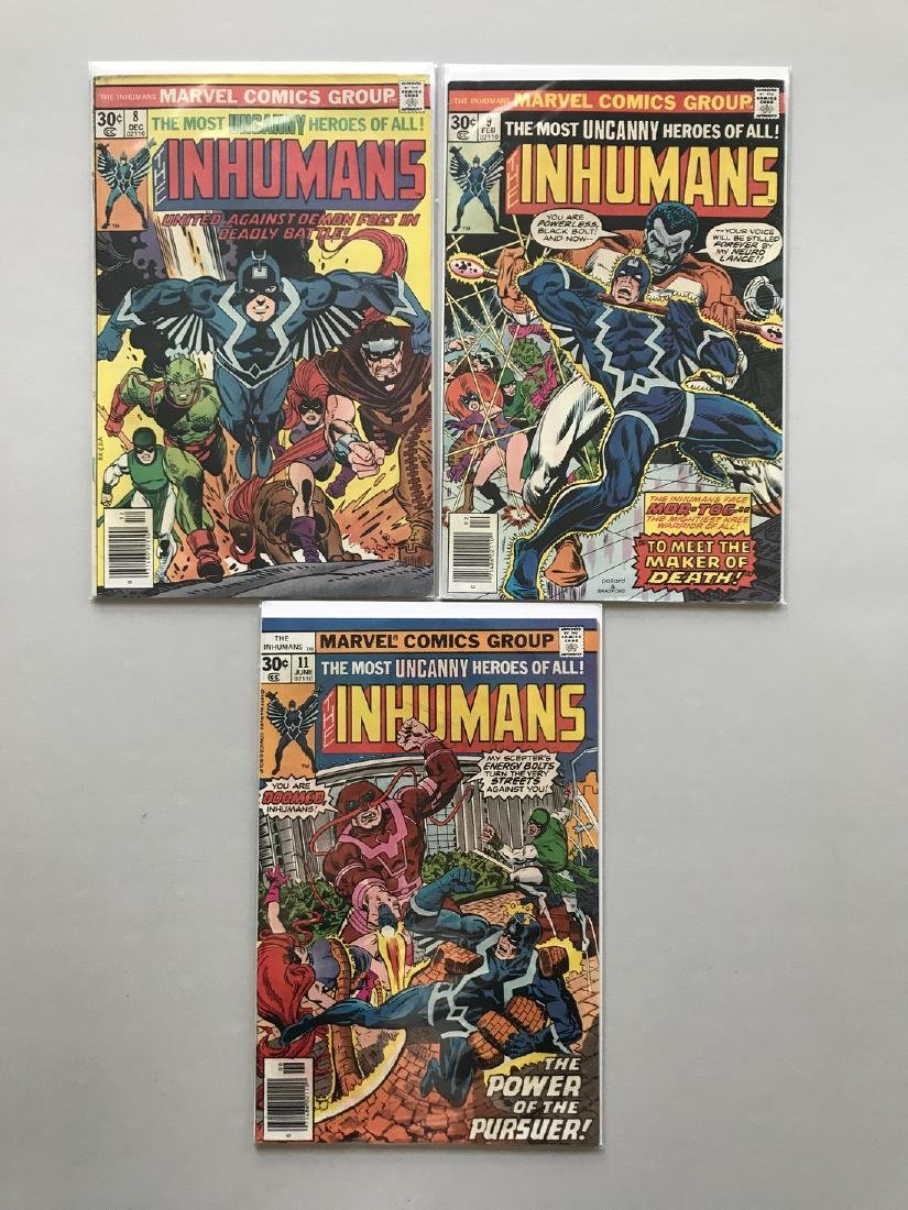 Lot of 3 Inhumans (1975 1st Series) #8 9 11
