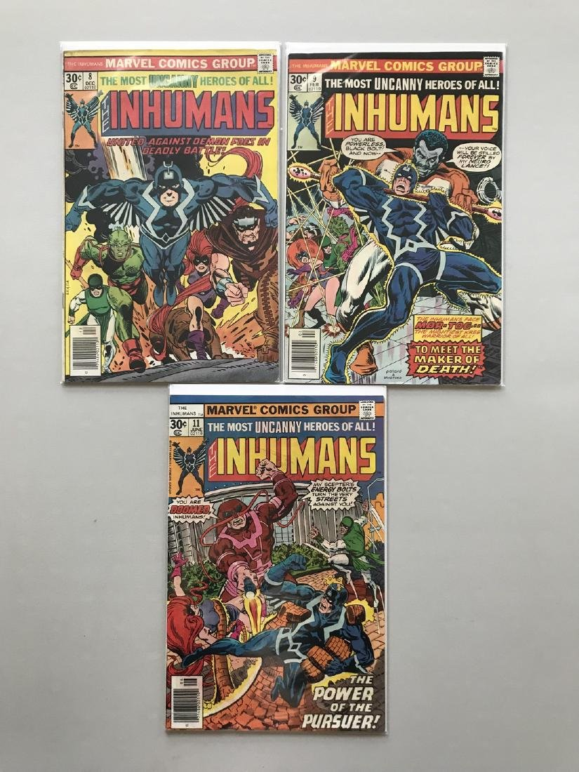 Lot of 3 Inhumans (1975 1st Series) #8 9 11 - 2