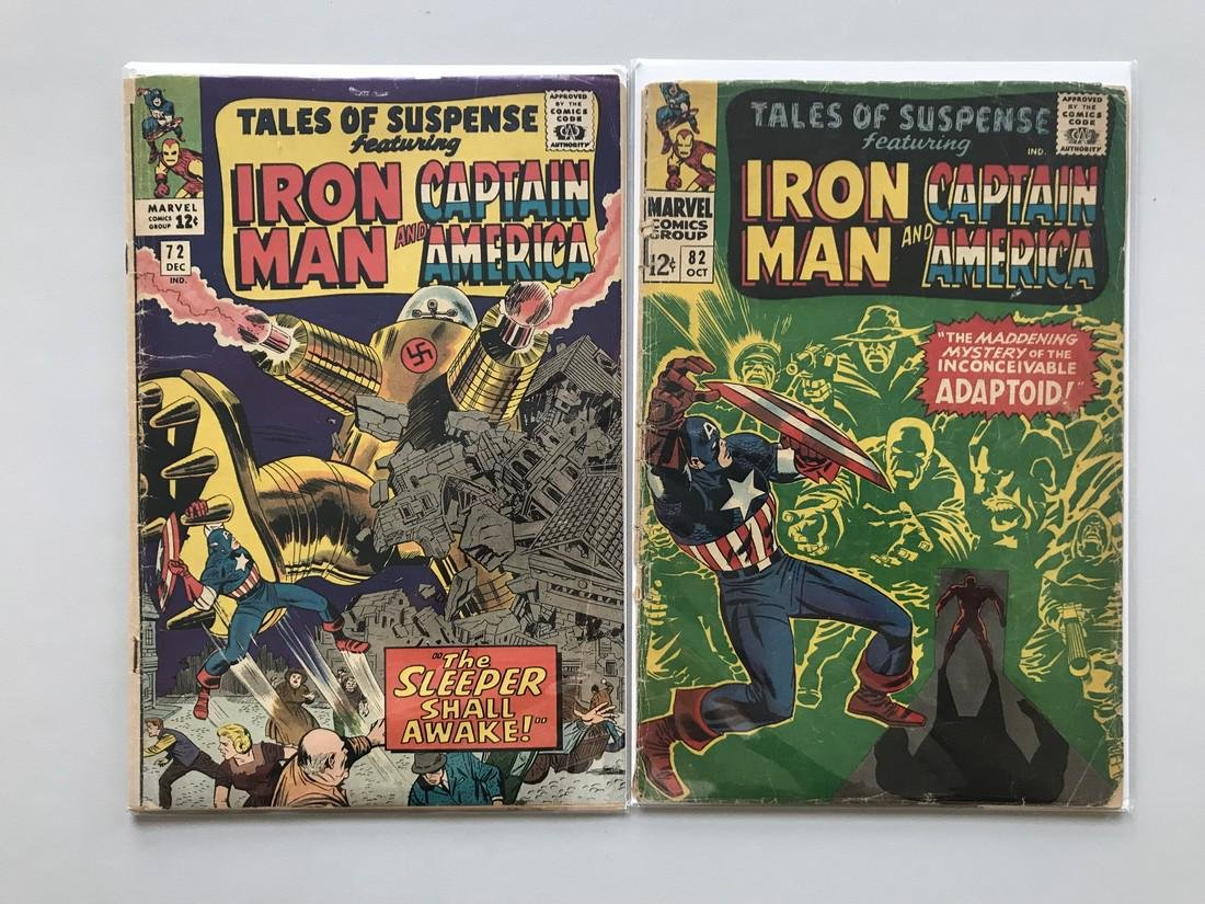 Lot of 2 Tales of Suspense (1959) #72 82 Low Grade