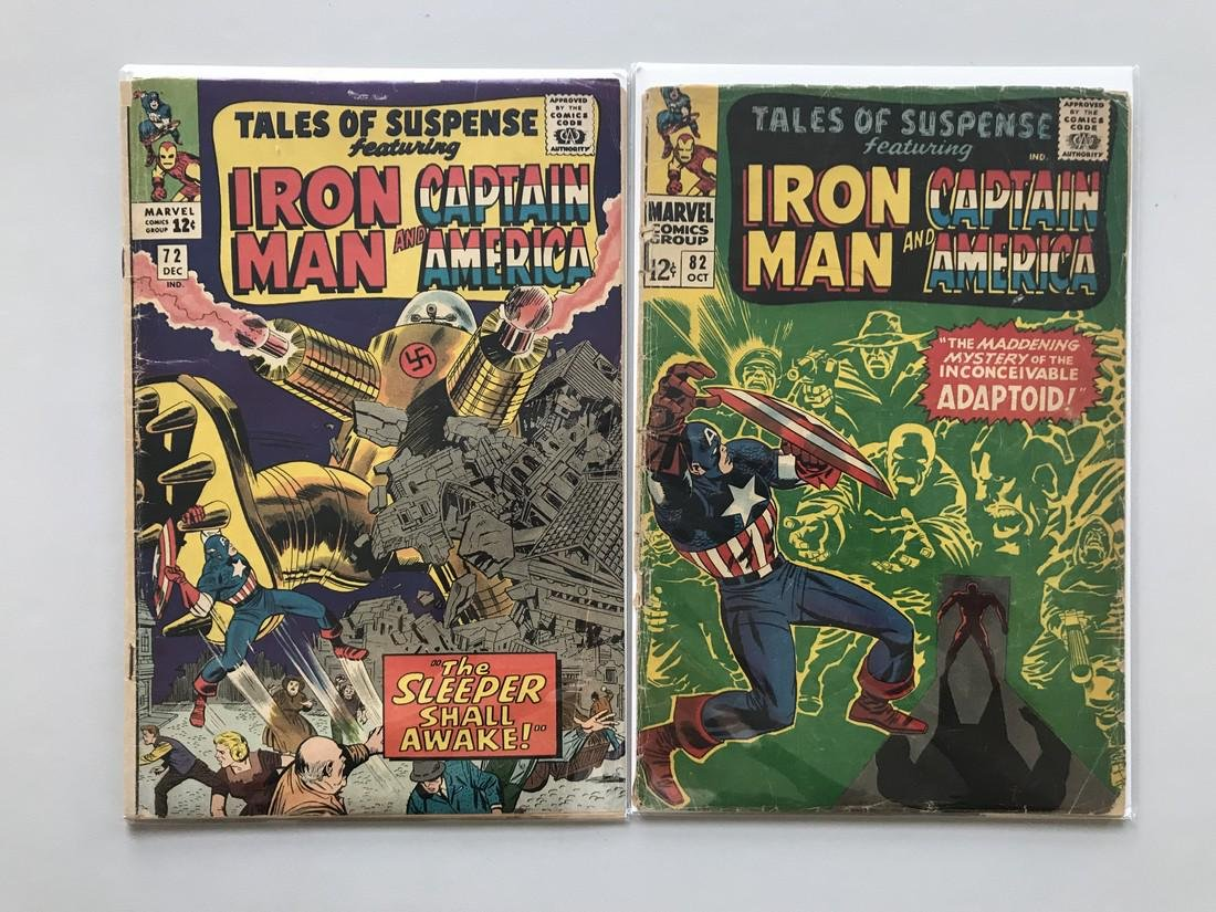 Lot of 2 Tales of Suspense (1959) #72 82 Low Grade - 2