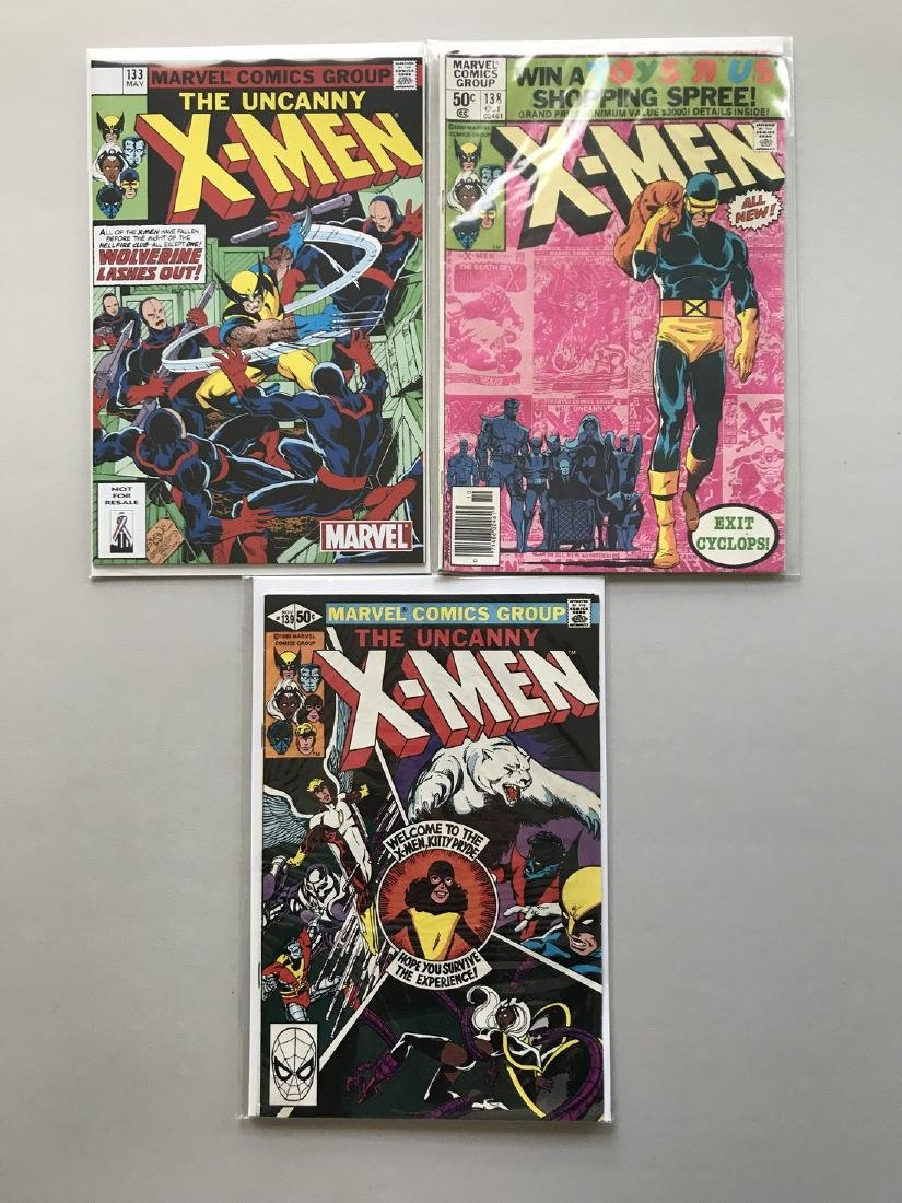 Lot of 3 Uncanny X-Men (1963 1st Series) #133 138 139