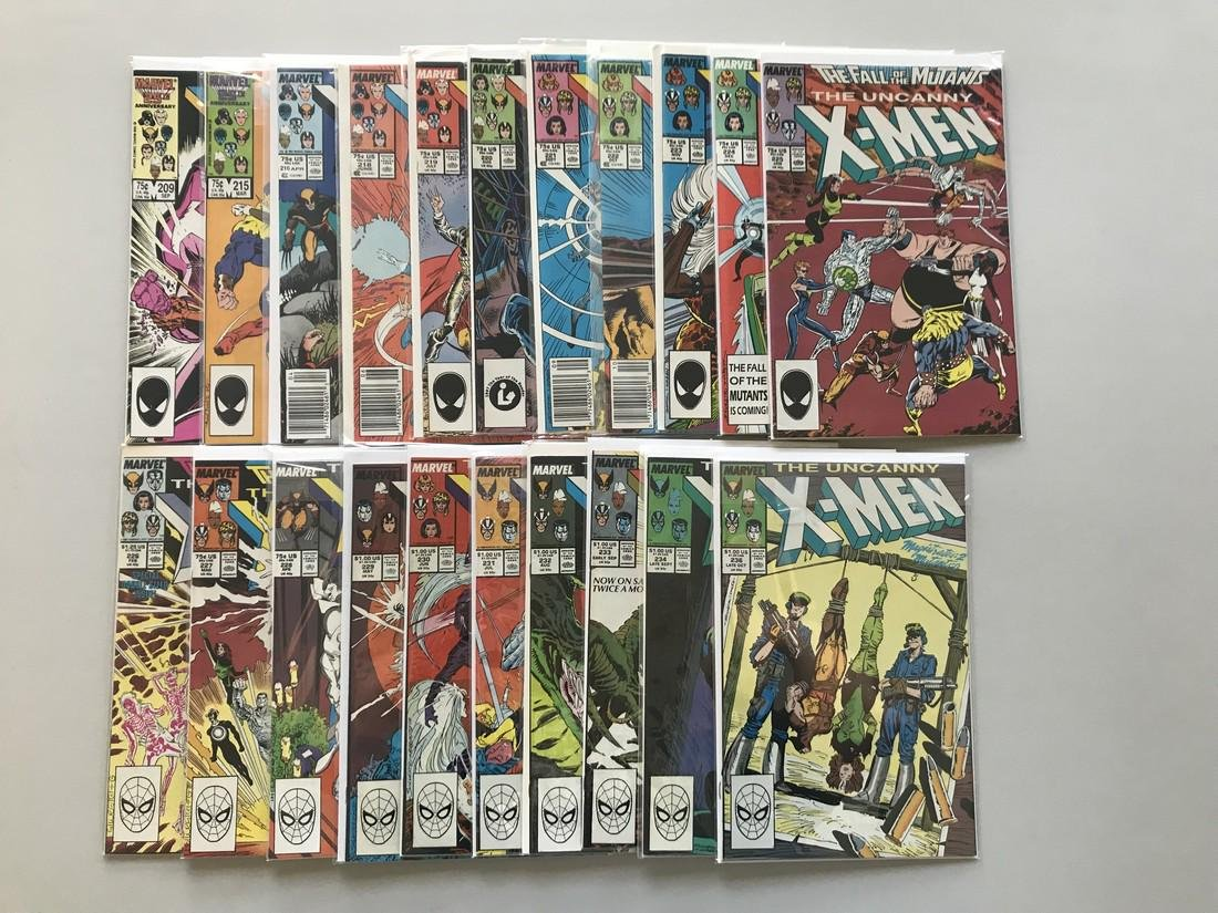 Lot of 20 Uncanny X-Men (1963 1st Series) from #209-236 - 2