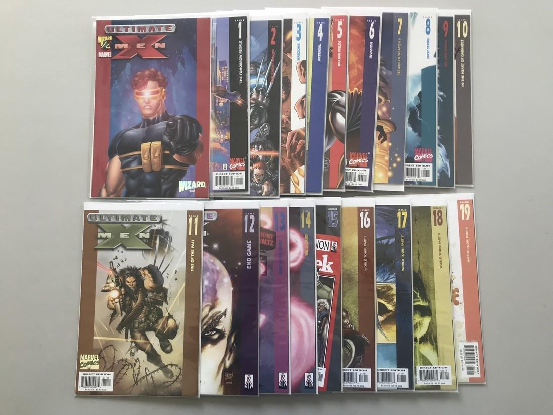 Lot of 20 Ultimate X-Men (2001) Wizard 1/2 Ultimate