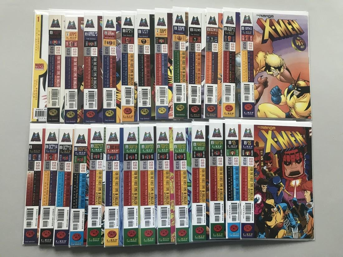 Lot of 27 X-Men The Manga (1998) #1-26 Marvel - 2