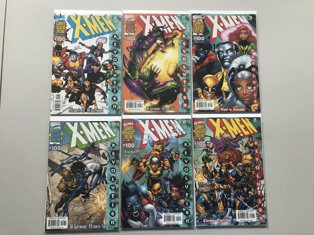 Lot of 7 X-Men (1991 1st Series) #100 with Variants