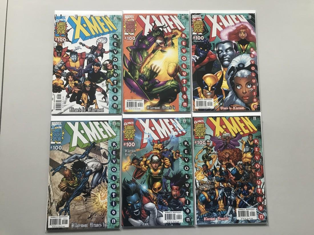 Lot of 7 X-Men (1991 1st Series) #100 with Variants - 2