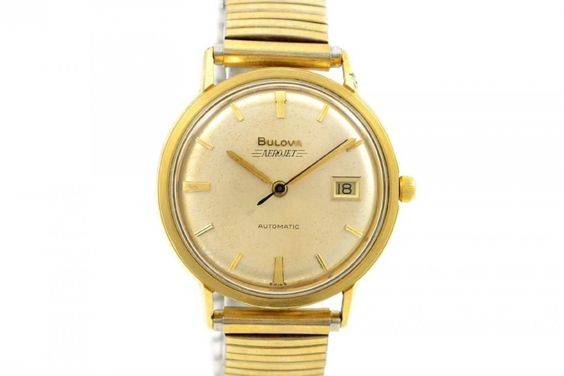 9a5a195d0 Vintage Bulova Aerojet Gold Plated Automatic Mens Watch - May 09 ...