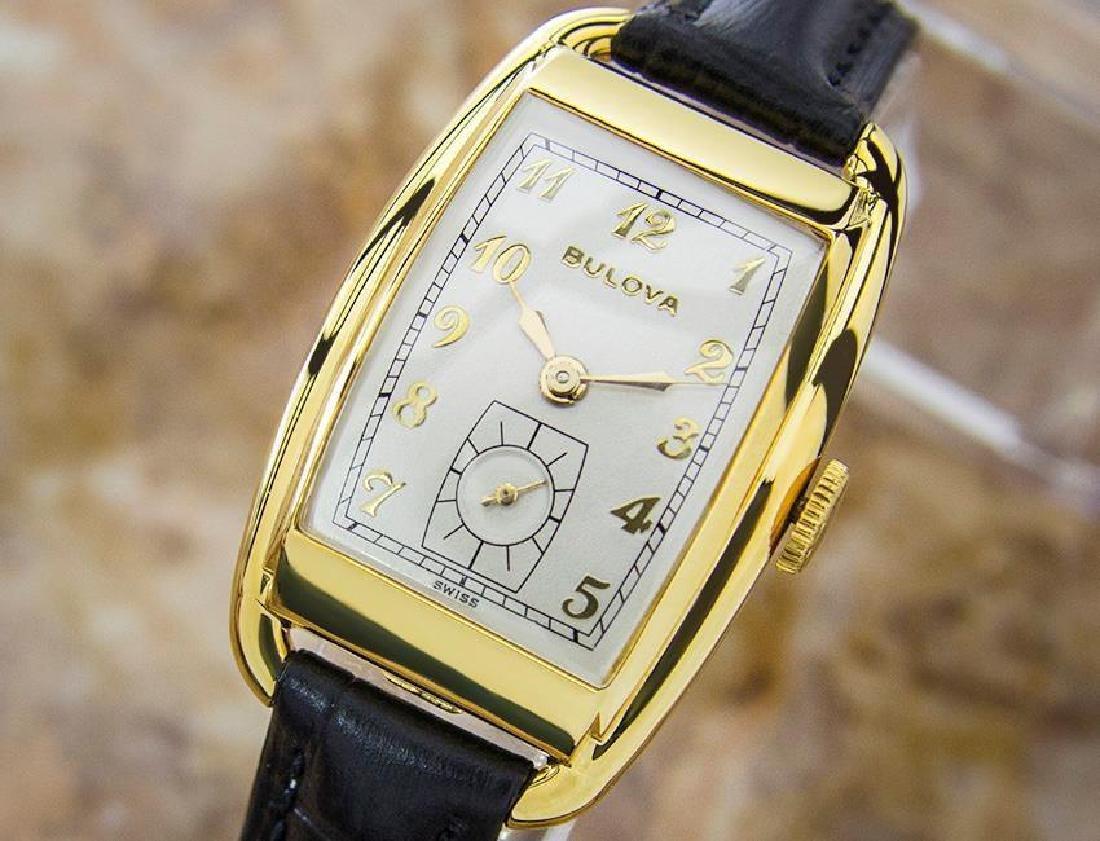 Bulova Rare Beautiful 1950s Mid Size Manual Gold Filled