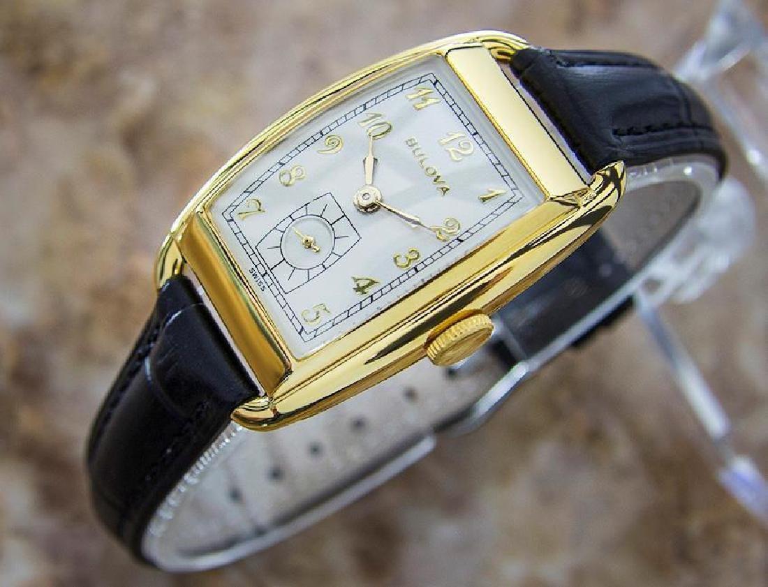 Bulova Rare Beautiful 1950s Mid Size Manual Gold Filled - 3