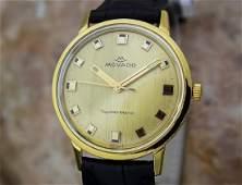Movado Tempo Matic 14k Gold Swiss Made Mens 1960s