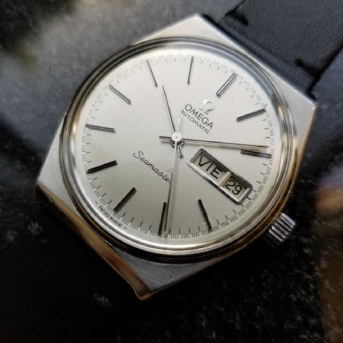 Omega Vintage Seamaster 1970s Swiss 35mm Automatic Mens - 3
