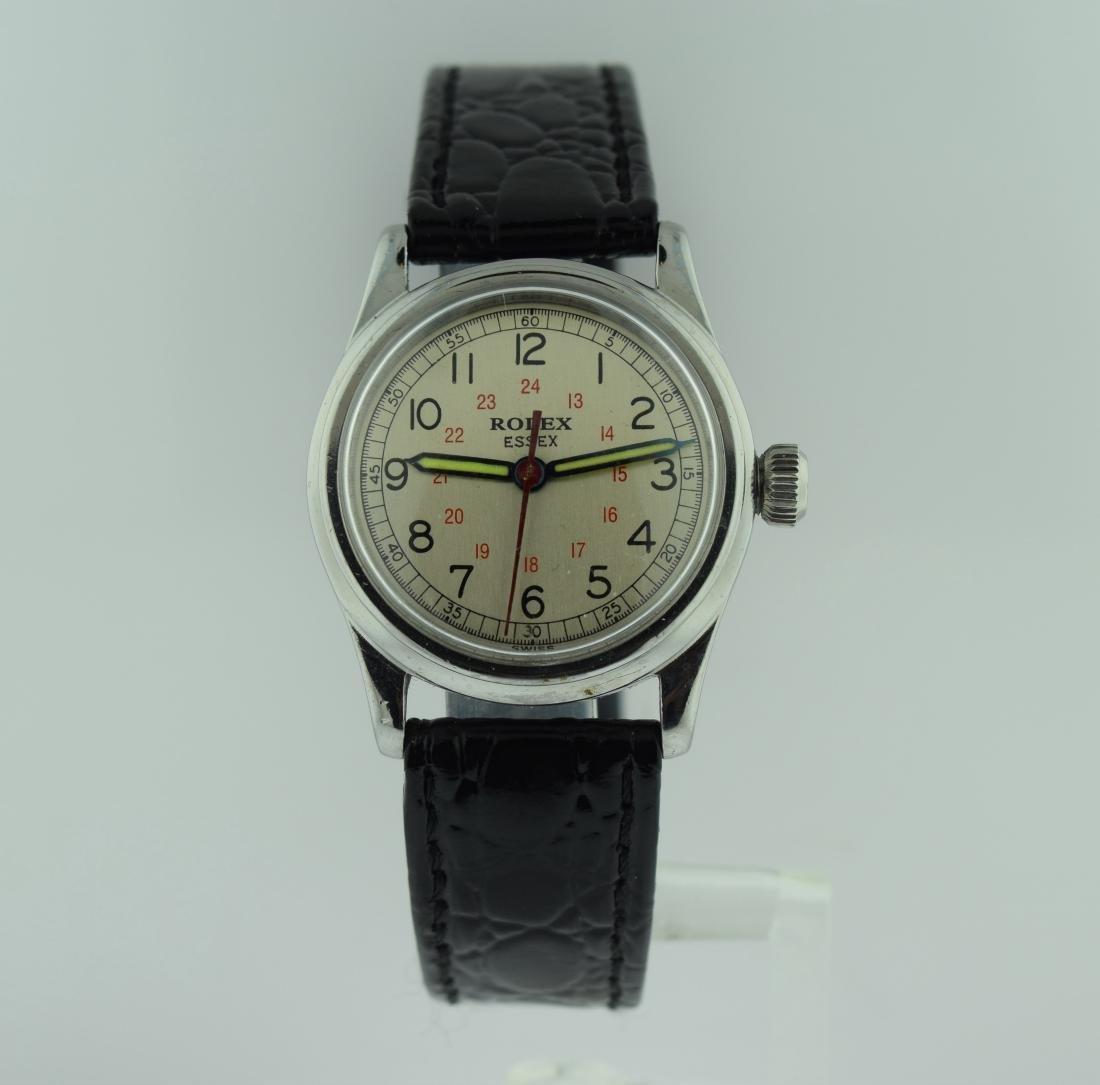 Rolex Essex Stainless Steel 24 Hour Watch, 1940s