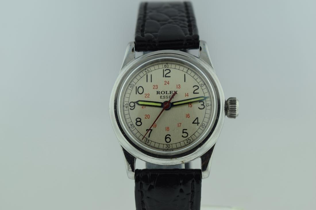 Rolex Essex Stainless Steel 24 Hour Watch, 1940s - 2