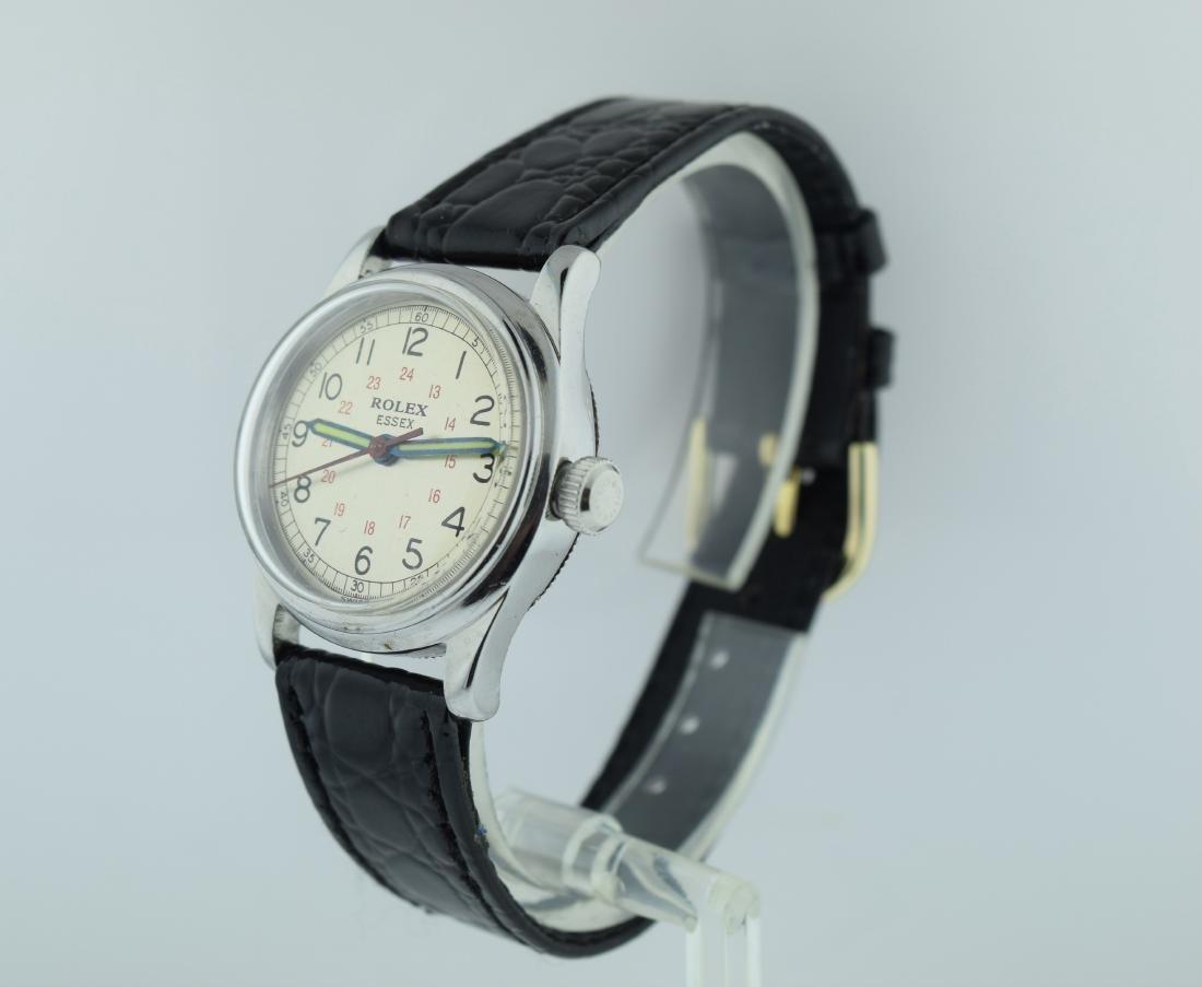 Rolex Essex Stainless Steel 24 Hour Watch, 1940s - 3