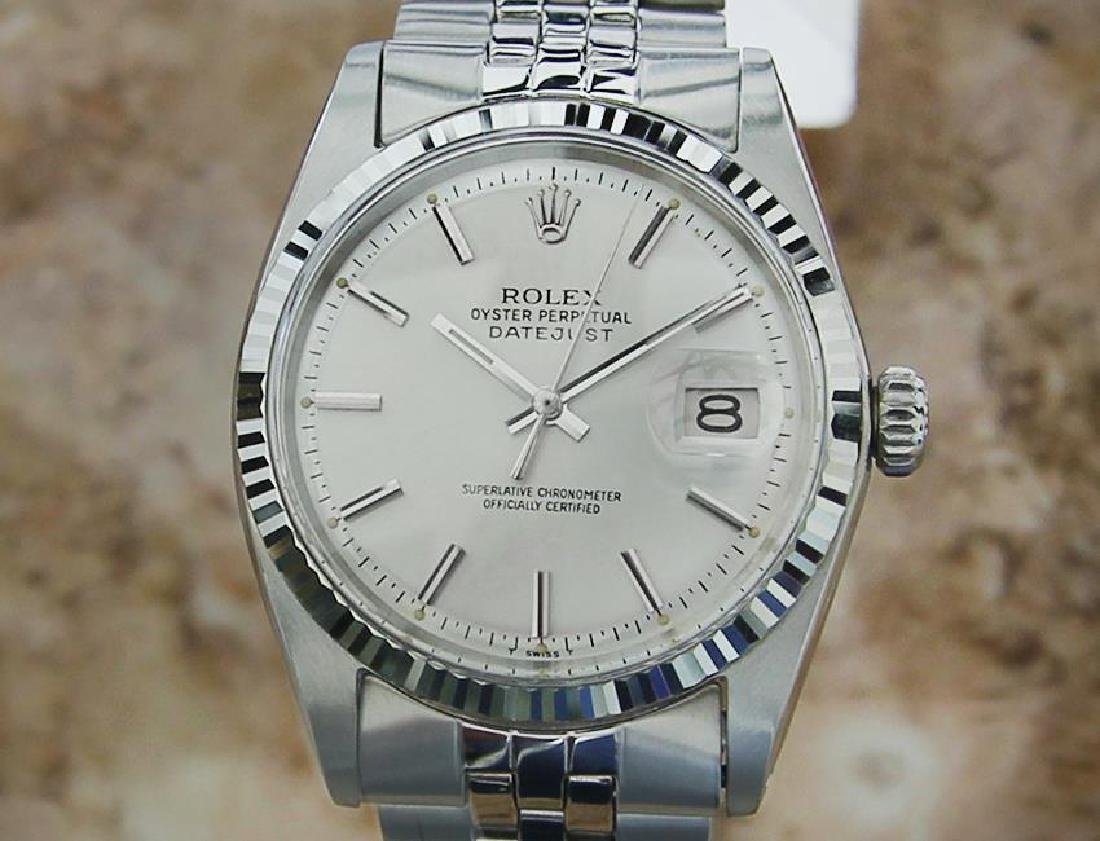 Rolex Vintage 1601 18k Gold And Stainless Steel Swiss