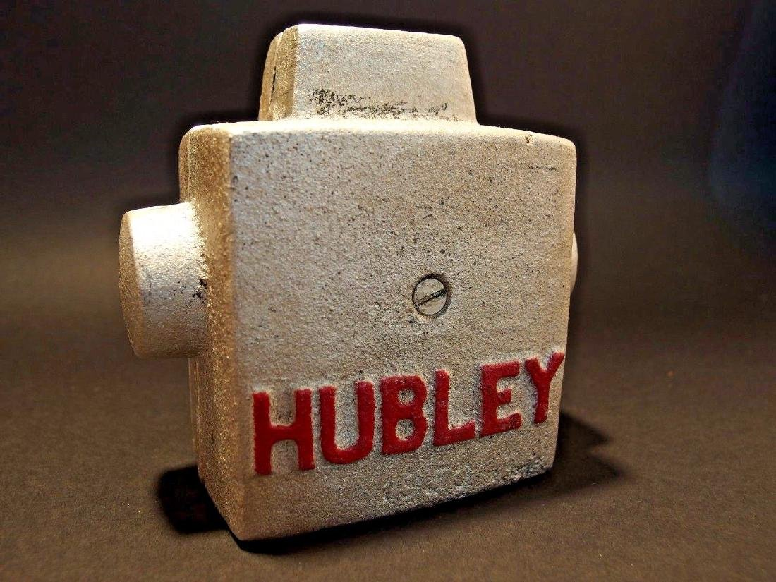 Hubley Cast Iron Silver Robert Coin Bank Marked 1950 - 2