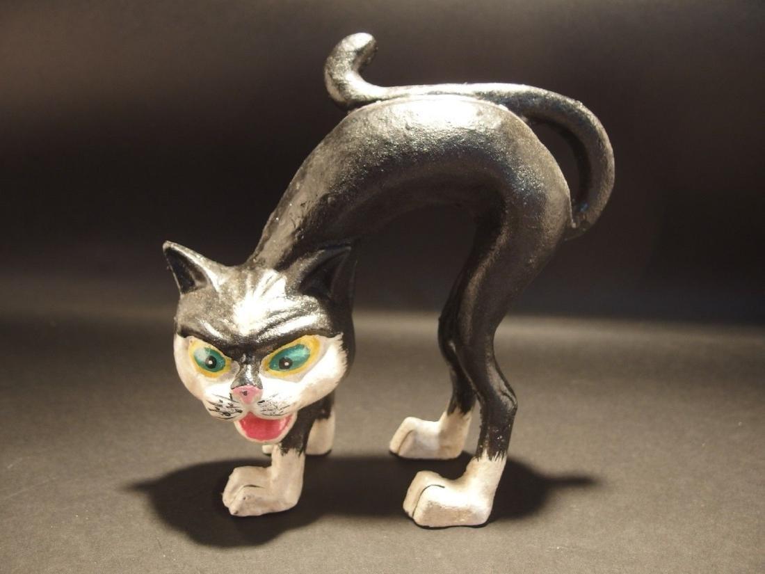 Cast Iron Scared Cat Door Stop - 2