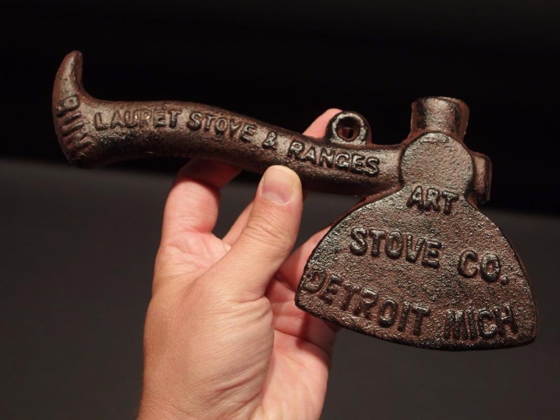 Cast Iron 1901 Art Stove Co. Detroit Whiskey - 6