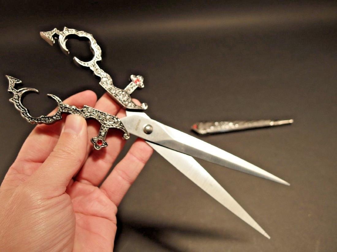 Medieval Dagger Scissors w Scabbard - 3