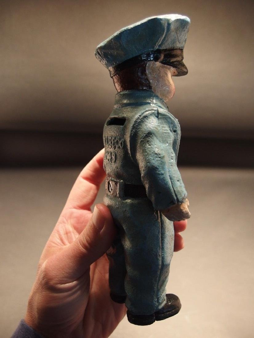 Cast Iron Route 66 Gas Pump Attendant Coin Bank Doll - 4