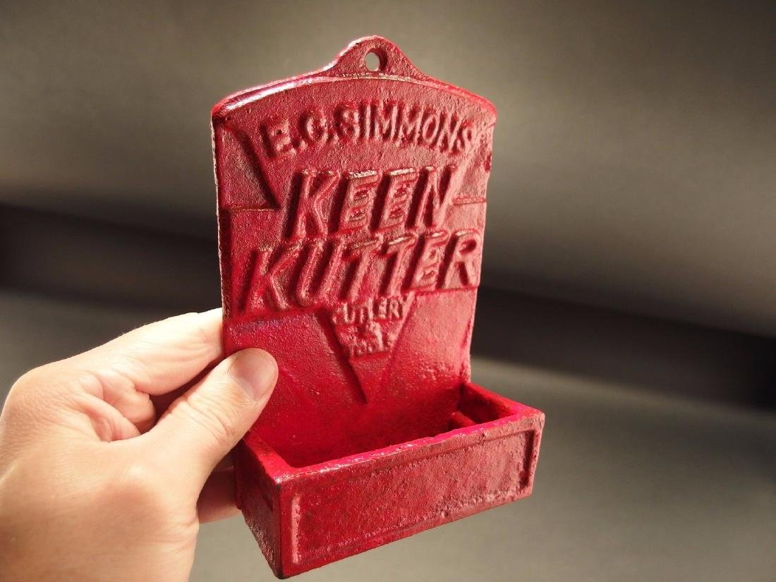 Red Cast Iron E.C. Simmons Keen Kutter Match Holder