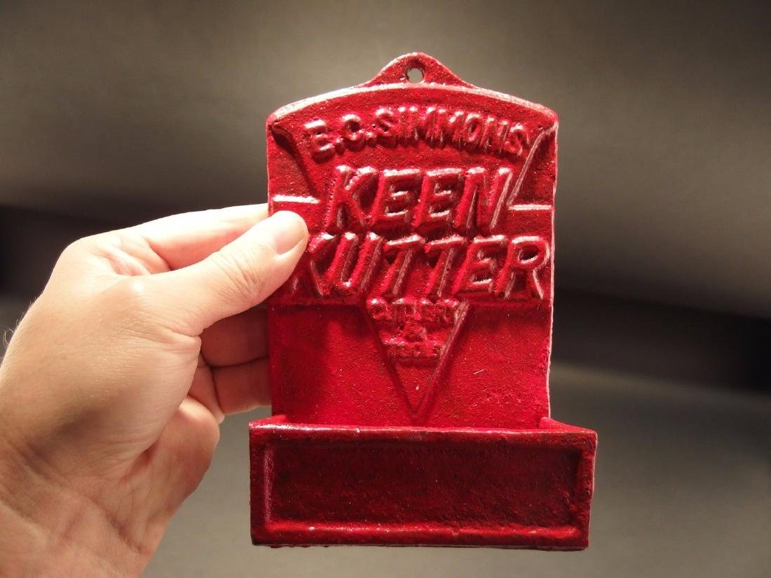 Red Cast Iron E.C. Simmons Keen Kutter Match Holder - 8
