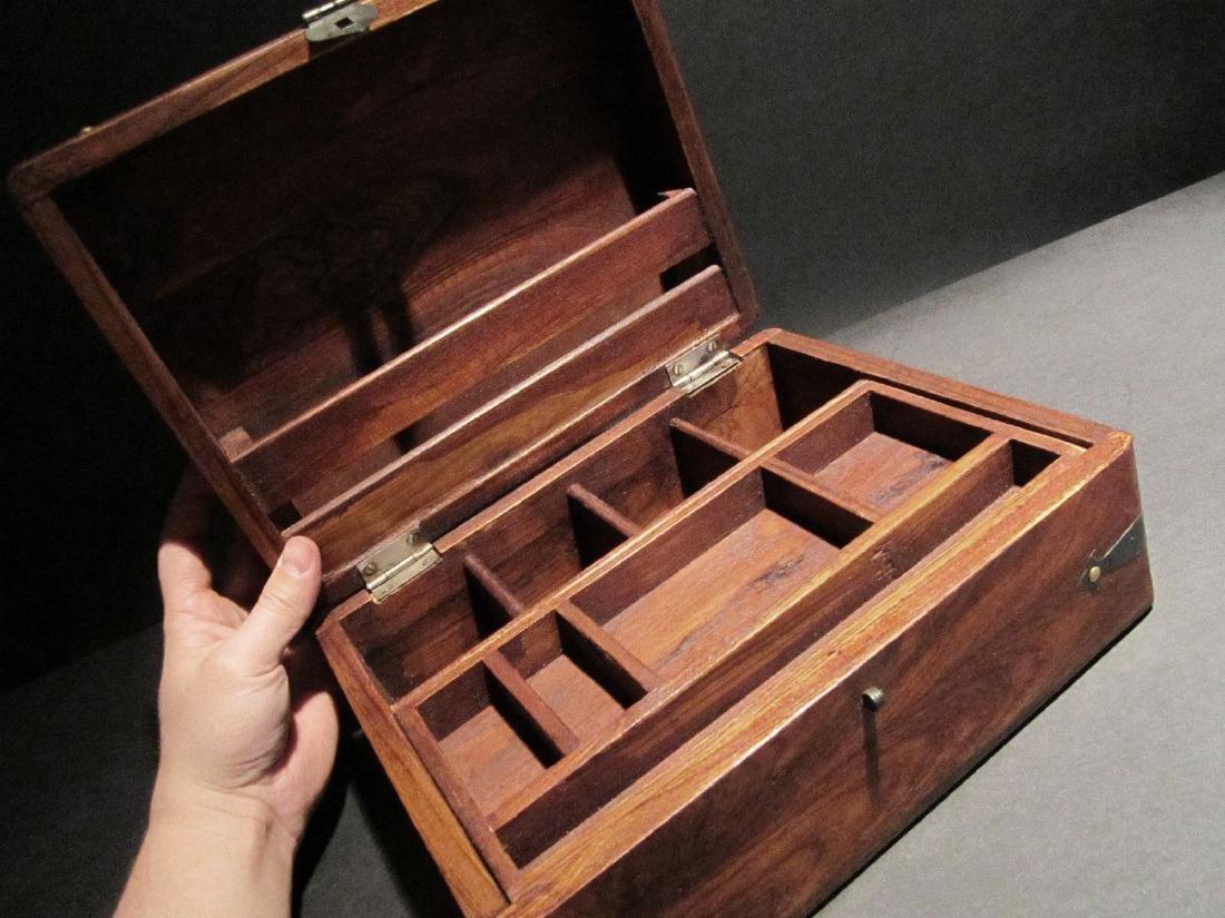 Hardwood Document Writing Desk Box - 2