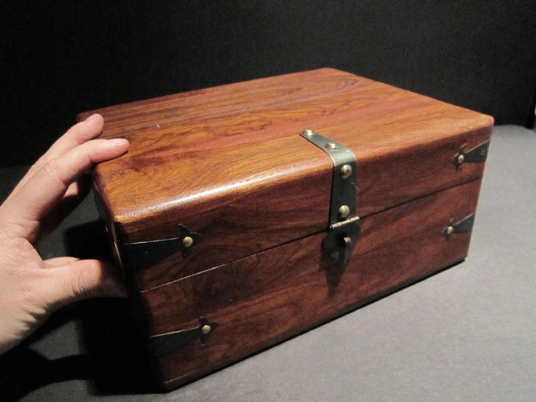 Hardwood Document Writing Desk Box - 3