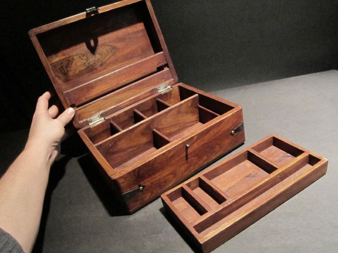Hardwood Document Writing Desk Box - 4