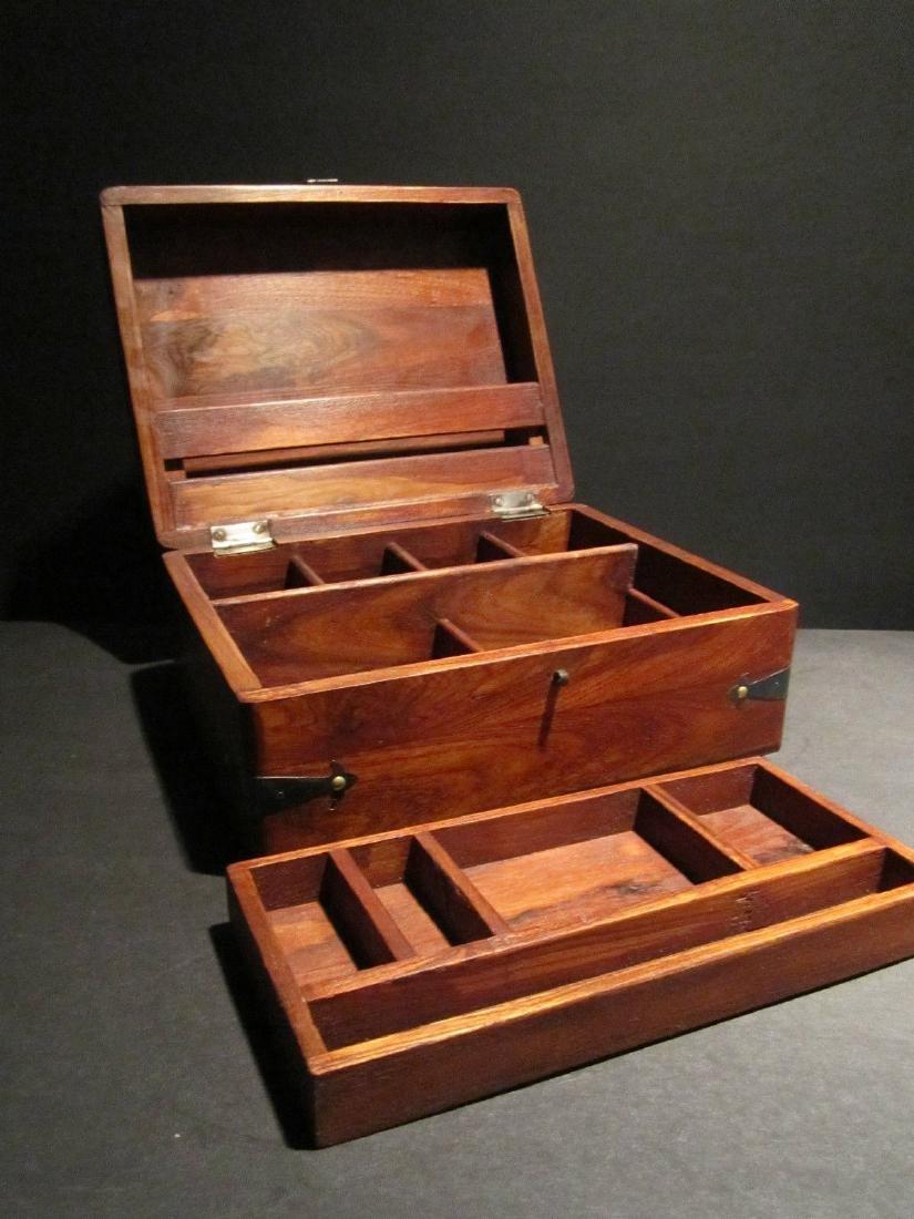 Hardwood Document Writing Desk Box - 5