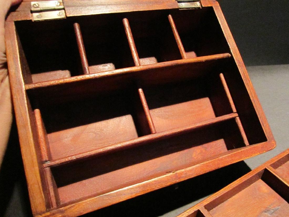 Hardwood Document Writing Desk Box - 6