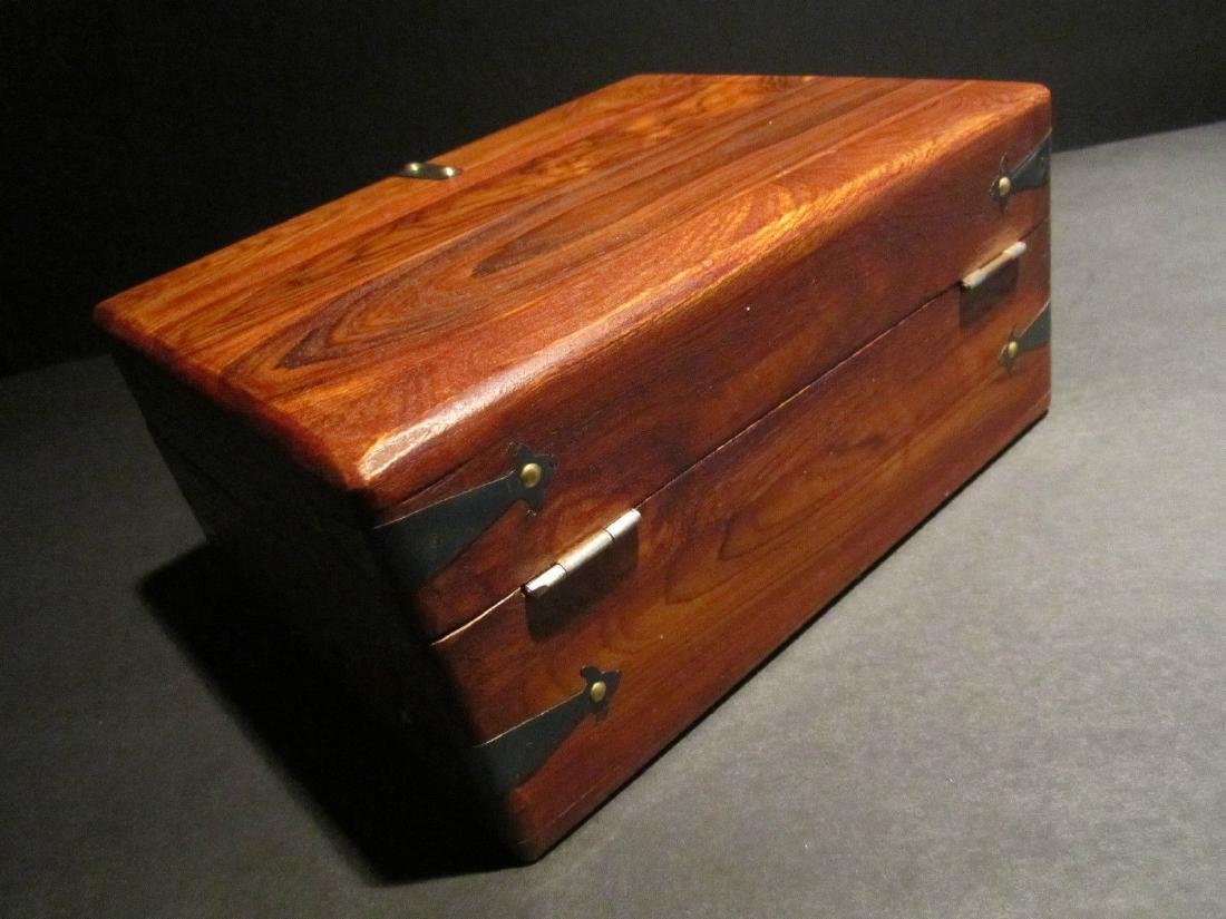 Hardwood Document Writing Desk Box - 7