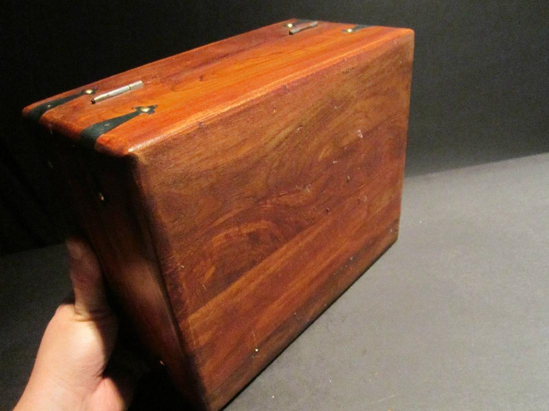 Hardwood Document Writing Desk Box - 8