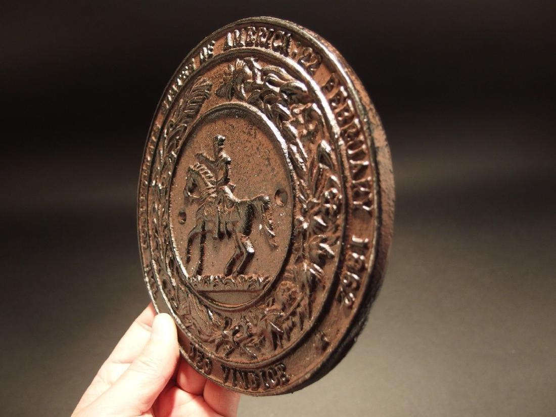 Civil War Confederate CSA Great Seal Cast Iron Plaque - 3